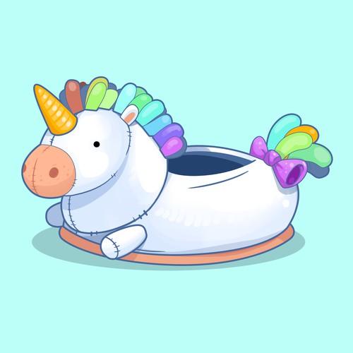 Unicorn Plush Slippers for Women & Kids