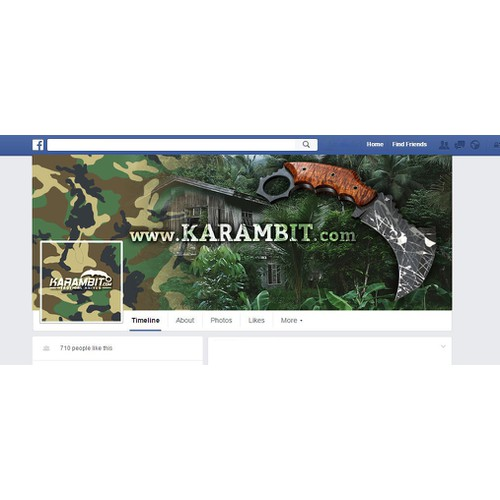 Design our Combat Knife Company's Facebook cover!