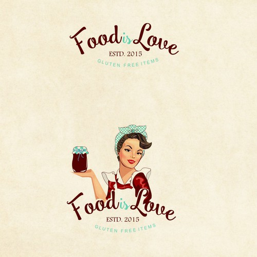 Vintage logo for gluten free items