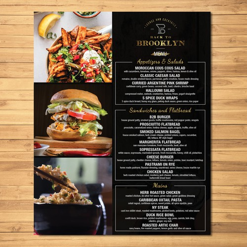 take out menu card design