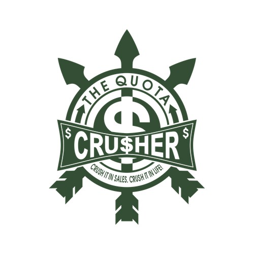 Design a powerful logo for The Quota Crusher!