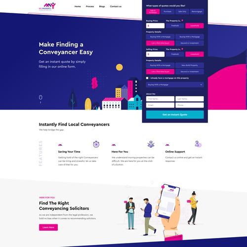 Website for real estate agency