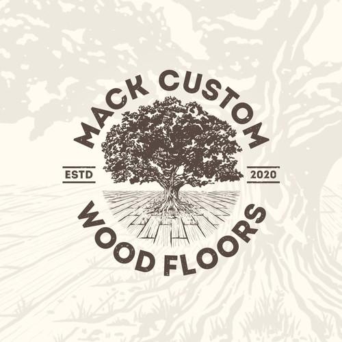 Vintage Style Logo for Hardwood Flooring Company