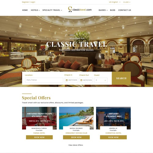 Classic Travel Website