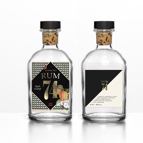 Label for Alpine Rum