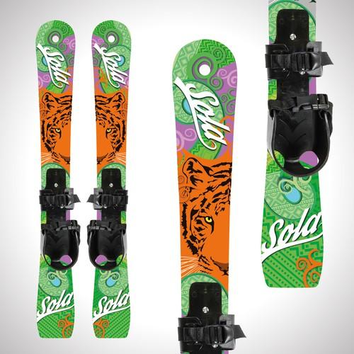ice ski design