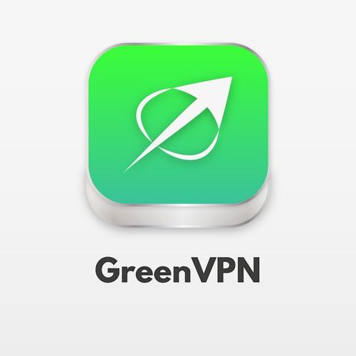 GreenVPN App Icon Redesign