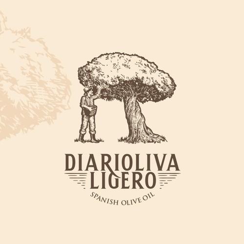 Diarioliva Ligero : Olive Oil Company Logo Concept