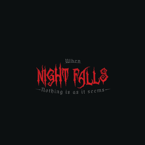 Logo for 'When Night Falls' - a halloween oriented event
