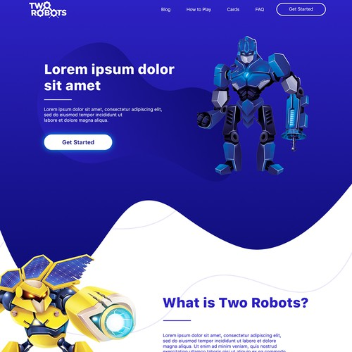 Web page for TwoRobots
