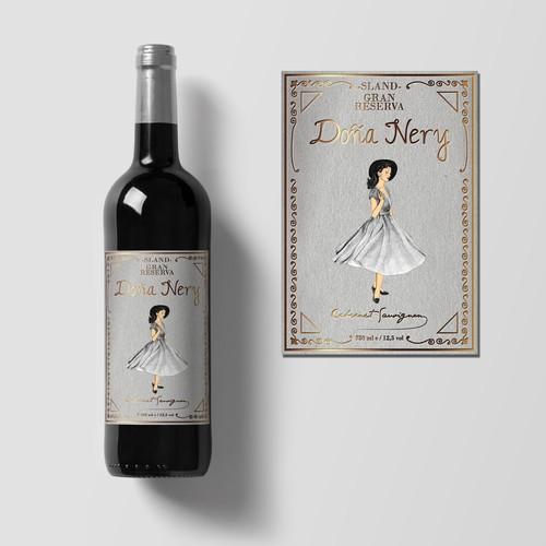 Diseño de etiqueta de Vino RETRO VINTAGE LUXURY