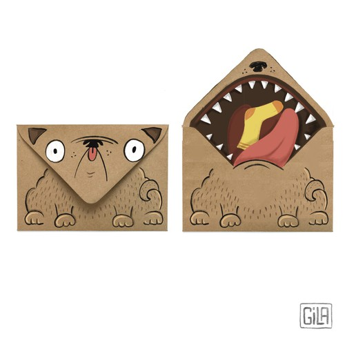 Funny envelope illustration