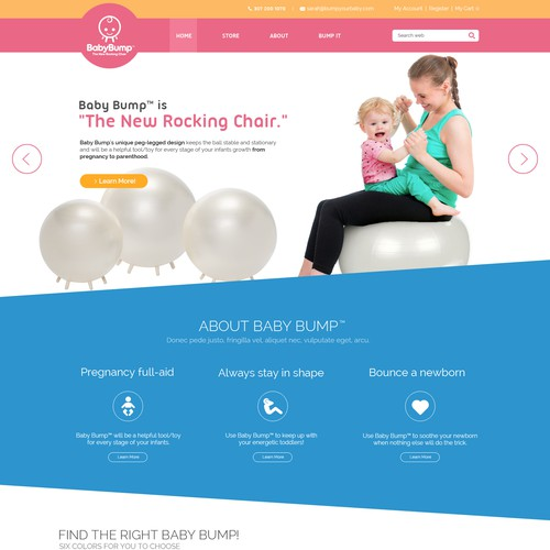 Baby Bump website design