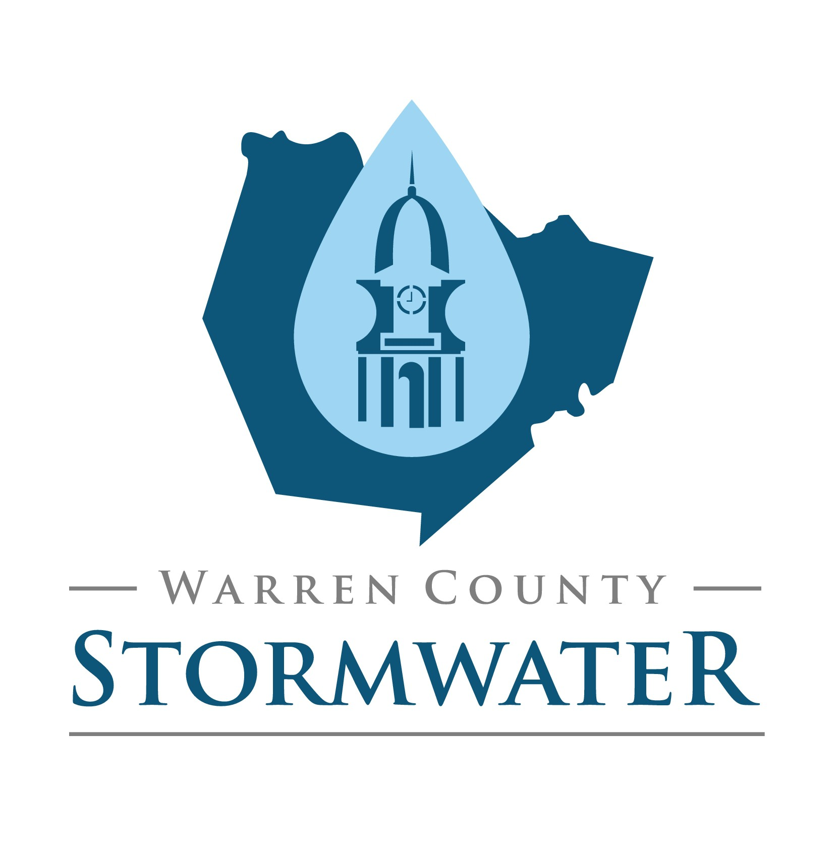 Create a recognizable logo for Warren County Division of Stormwater Management