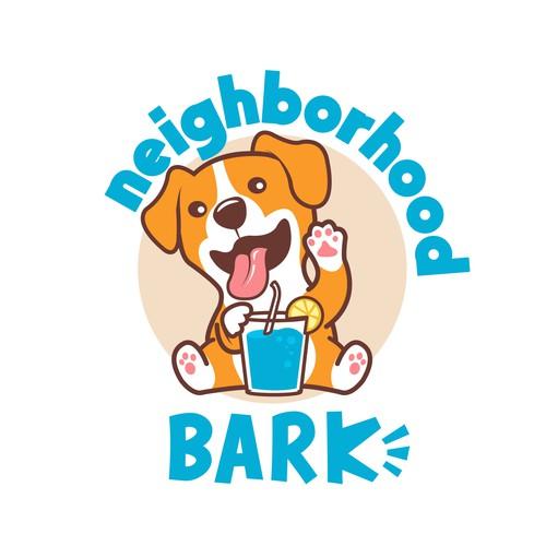 eye-catching logo design for dog themed bar and all-season dog park