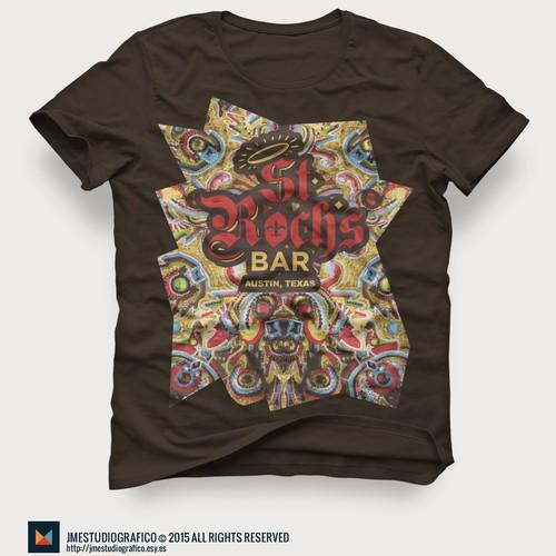 5 year anniversary t-shirt design Mardi Gras Indian