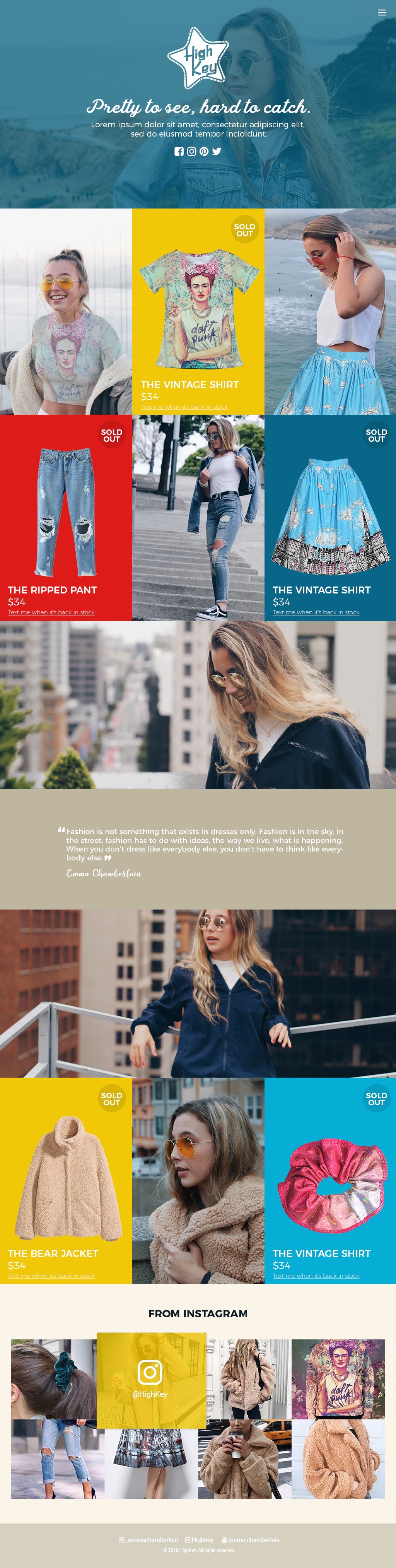 New young women's clothing brand needs a fun, colorful & retro website