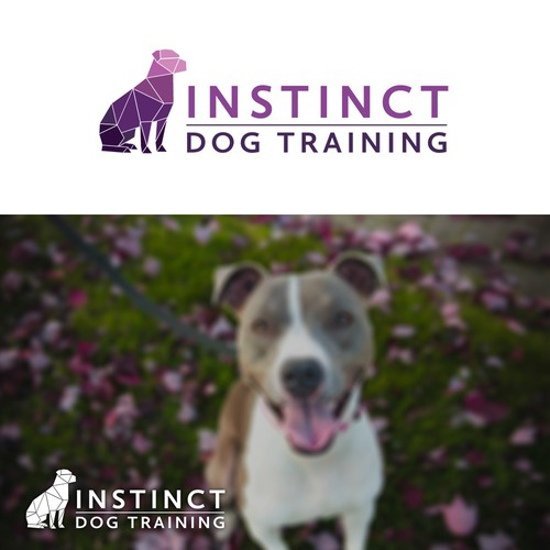 Geometric Dog Training Logo