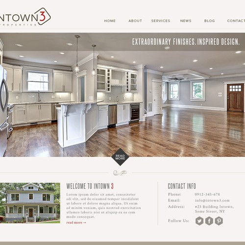 Website needed for home building company.