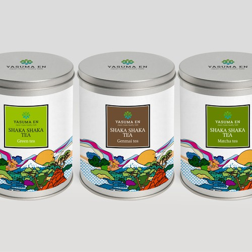 Japanese tea package design