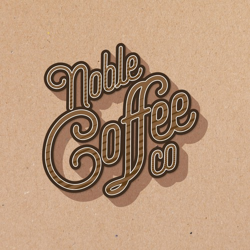Logo for noble coffee.