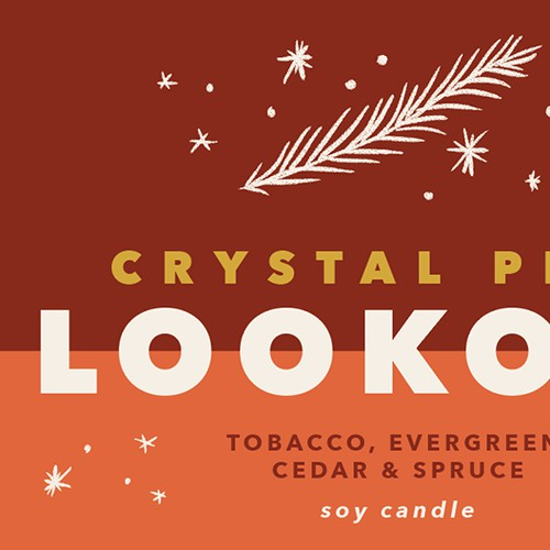 Crystal Peak Lookout candle label