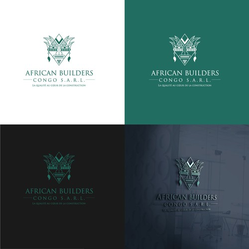 Strong logo concept for AFRICAN BUILDERS CONGO S.A.R.L.