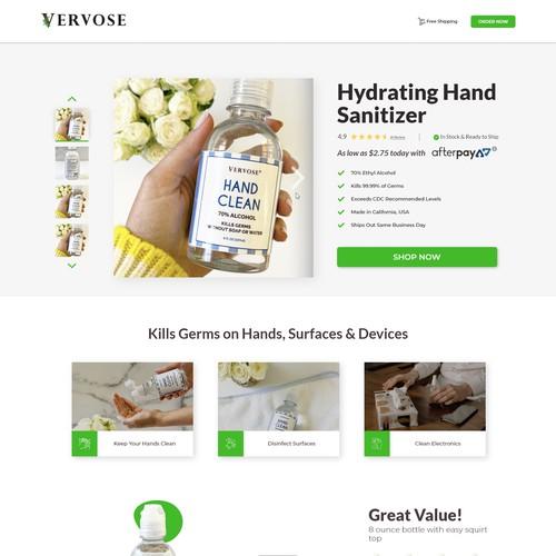 Vervose website design