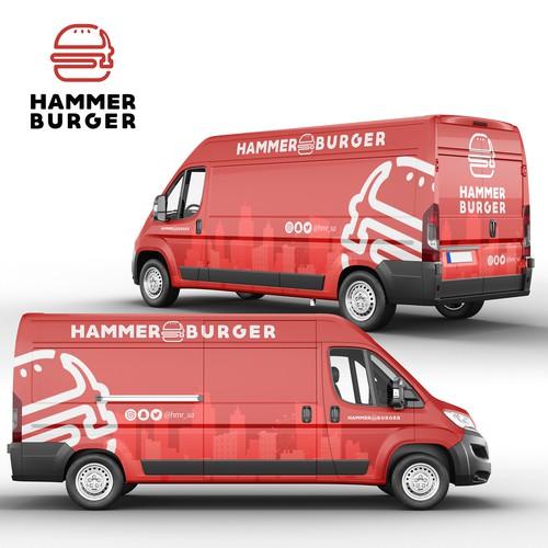 Hammer Burger Full Van Wrap Design