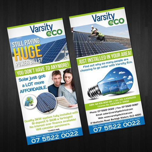 New postcard, flyer or print wanted for Varsity Eco
