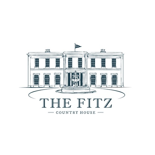 Illustrative logo of fine country house