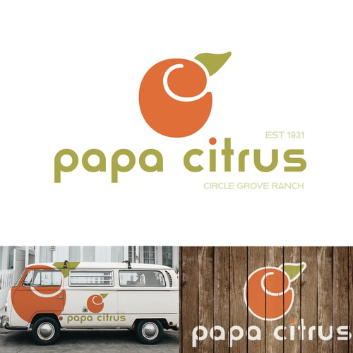 Retro logo concept for Citrus Ranch.