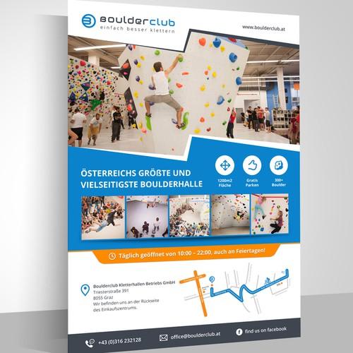 Poster for bouldering-gym!