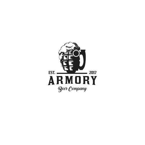 Bold logo for brewing company