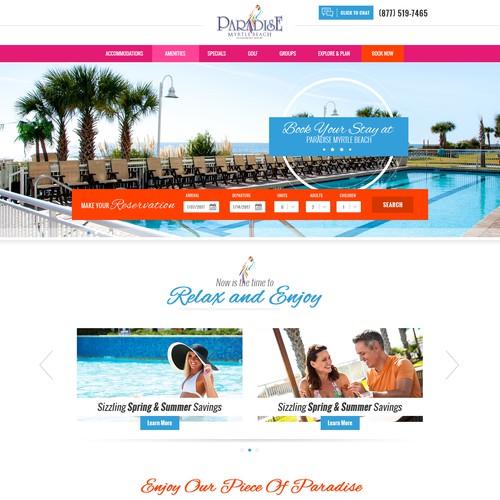 Paradise resort webdesign