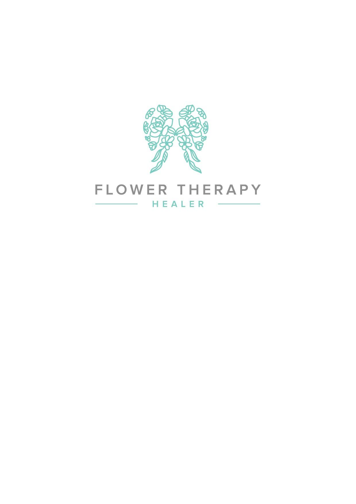 Spiritual, flower healing method logo design