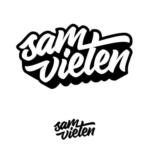A name logo for Sam Vieten