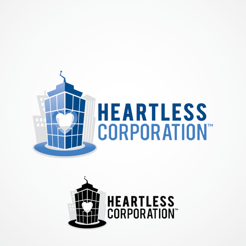 Create a sleek, corporate logo with a hint of humour for an online comedy team