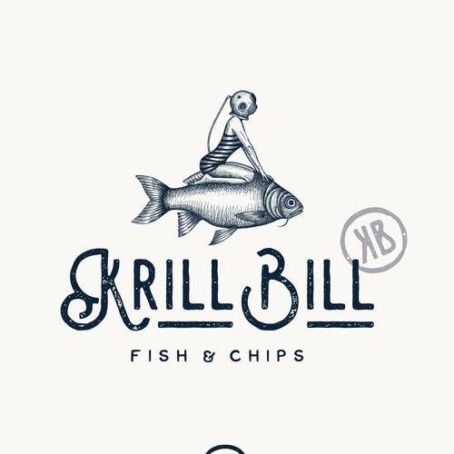 Logo design for Krill Bill restaurant