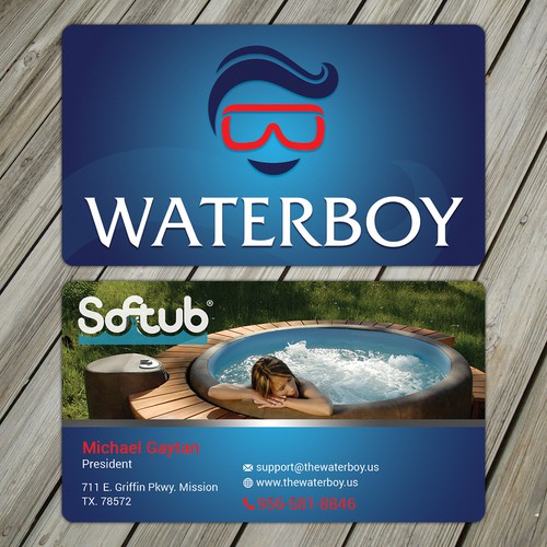 Professional business card for Waterboy