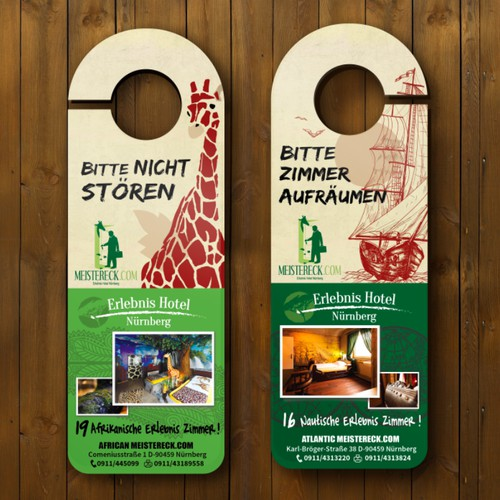 Flyer design for a Germany hotel