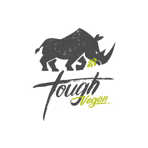 Tough vegan logo Rhino