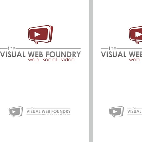 Create a modern, simple image for visualwebfoundry.com !!