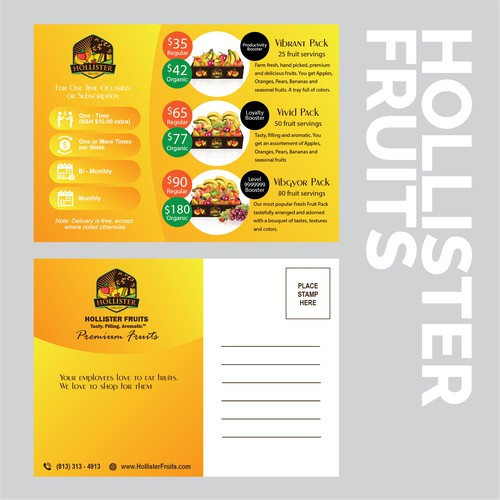 Hollister Fruits Postcard