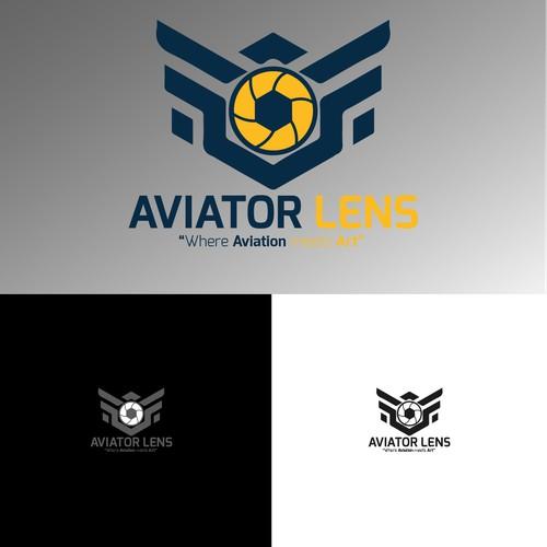 Aviator lens logo