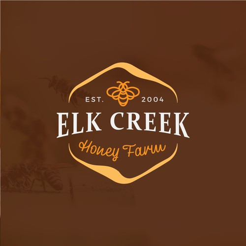 Logo for honey farm