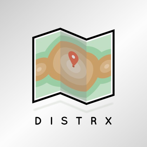 App logo design concept for DISTRX