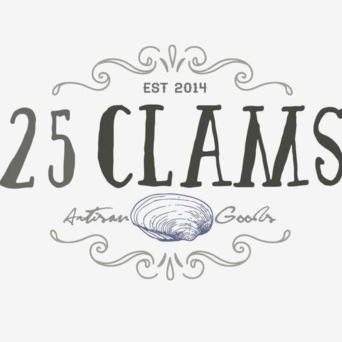 25 Clams Logo
