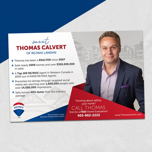 Postcard for Real Estate Agent- Re/max