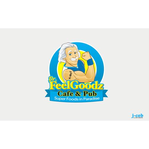 logo for Dr. Feel Goodz Cafe & Pub